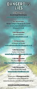 Dangerous Lies blog tour banner